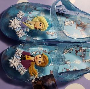 Girl frozen shoes